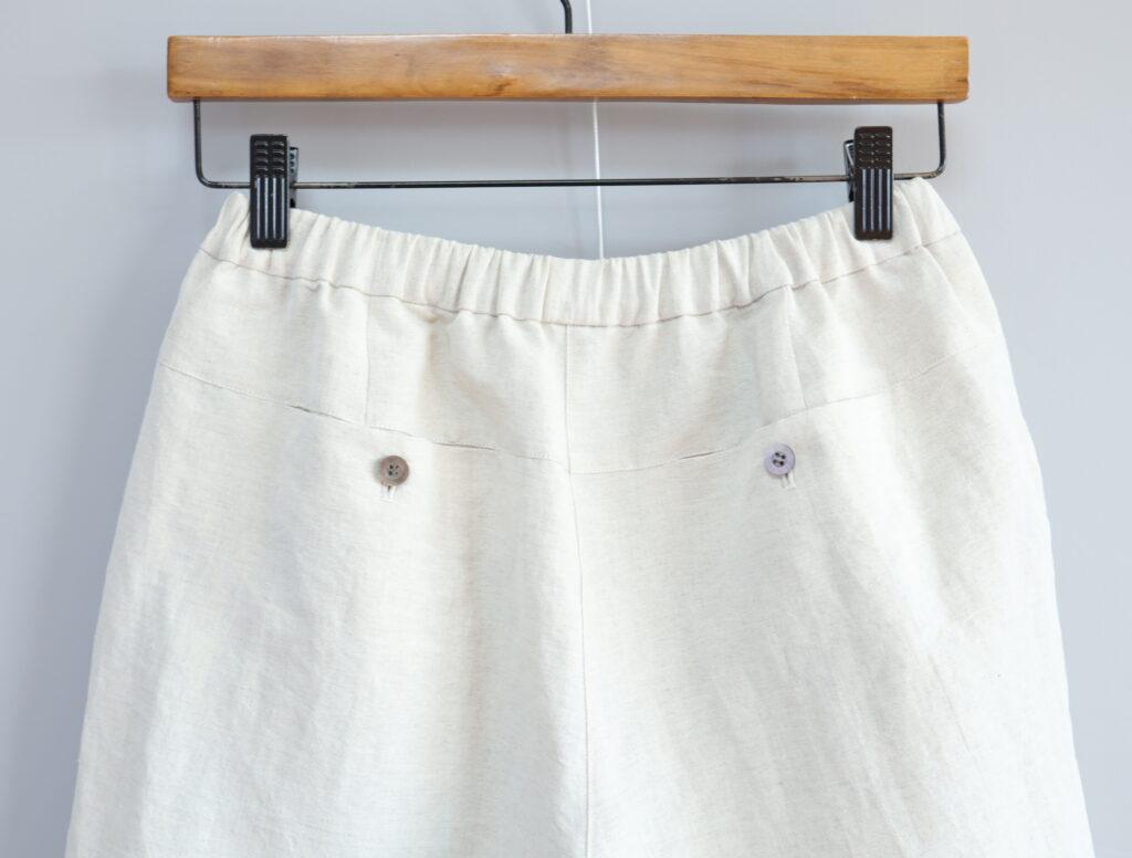 写真:バックのボタン付きポケット