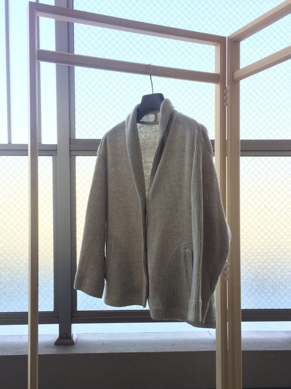 写真:お洗濯後のジャケット