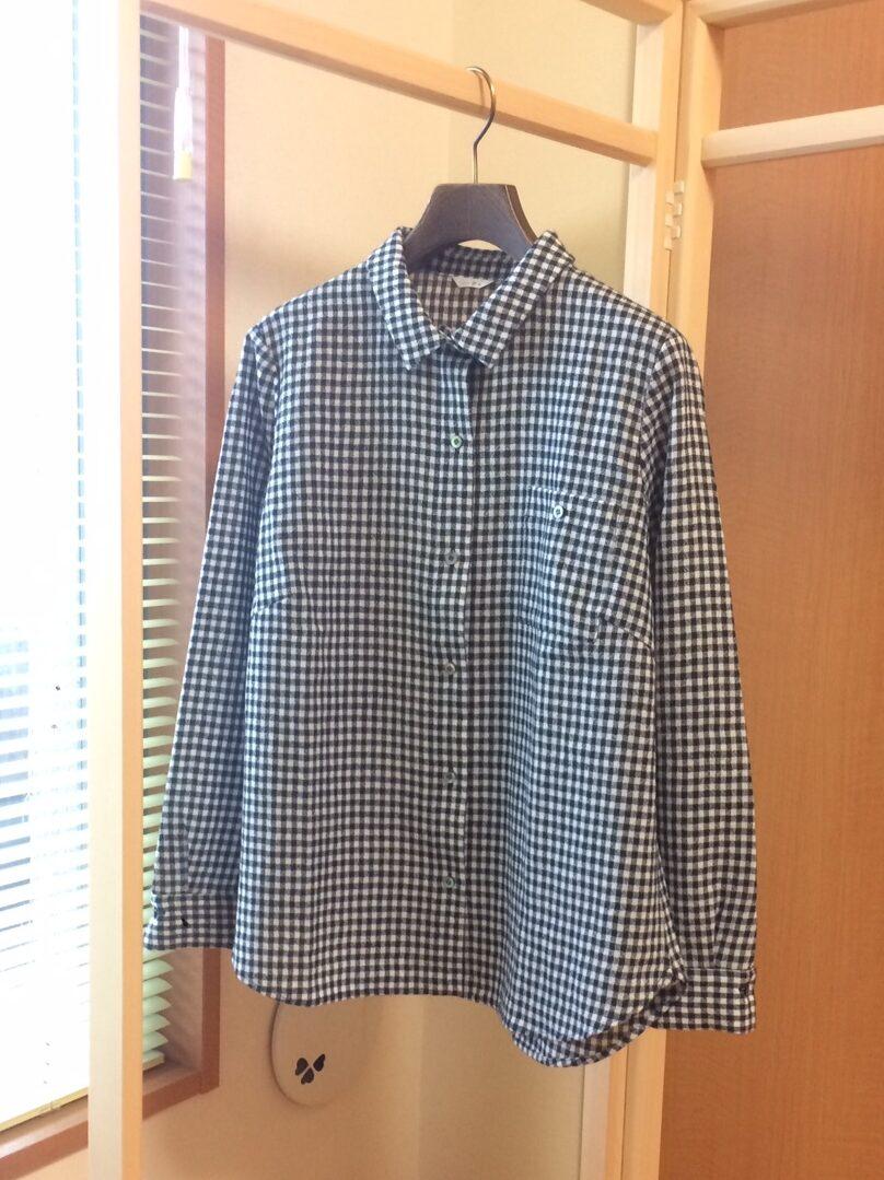 写真:洗濯後のギンガムシャツ